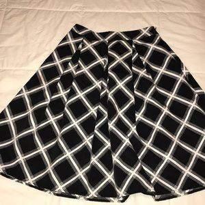 Express High Wasted A-line Skirt